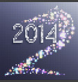 new year background 2014 horse in the form vector image vector image