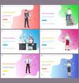 online business businessman solving problems vector image