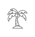 palm tree line icon vector image vector image