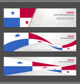 panama independence day abstract background vector image