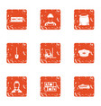 purchase of material icons set grunge style vector image vector image