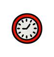 retro grunge texture cartoon wall clock vector image vector image