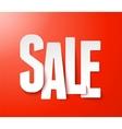 Sale paper vector image vector image