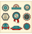 Set of Christmas labels vector image vector image