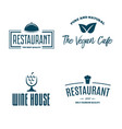 set of restaurant shop design element in vintage vector image vector image