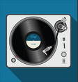simple modern black and white turntable vector image vector image