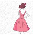 sketch fashion vector image vector image