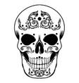 sugar mexican day dead vector image