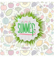 summer decorative template for holiday design vector image vector image