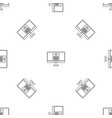tax by computer pattern seamless vector image vector image