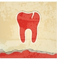 tooth with a crack retro poster vector image