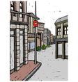 Town Street Scene vector image