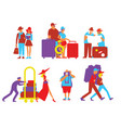 traveling people set in flat design vector image vector image