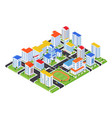 urban landscape - modern colorful isometric vector image