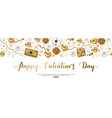 valentines day composition with top view hearts vector image