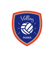 volleyball logo template badge volley mania with vector image