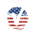 Voting mark American lag background Vote grunge vector image vector image