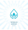 water drop with human hand icon logo design vector image vector image
