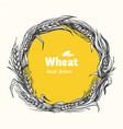 wheat wreath hand drawn vector image vector image