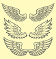 wings hand drawn vector image vector image