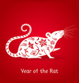 year white rat vector image