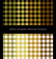 yellow lumberjack pattern collection vector image vector image