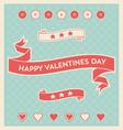 happy valentines day design elements background vector image