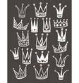 Set of cute cartoon crowns Hand drawing vector image
