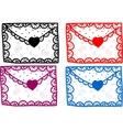 Set of love Valentine message vector image