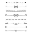 0010 hand drawn dividers vector image vector image