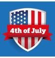 4th of July - shield with flag vector image vector image