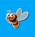 a bumblebee sticker template vector image vector image