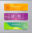 abstract background modern banner school vector image