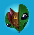 alien kitty vector image vector image