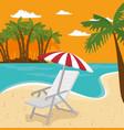 beach vacation design vector image vector image