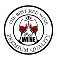 best wine cups seal stamp vector image vector image