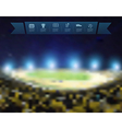 Blurred lights at night and stadium vector image