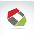 Bright complex geometric corporate element created vector image