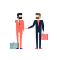 businessmen came to an agreement handshake vector image