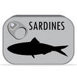 Can of sardines vector image vector image