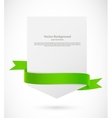 Card with green ribbon vector image