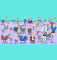cartoon businessmen characters large group vector image vector image