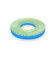 cartoon color swimming ring toy on a white vector image vector image
