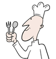 Chef character vector image