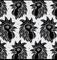chicken head tattoo pattern vector image