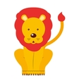 circus lion isolated icon design vector image vector image