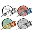 collection different style tattoo machine vector image vector image