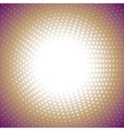 color radial halftone background vector image vector image