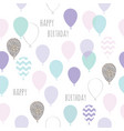 cute seamless pattern with balloons for birthday vector image vector image