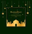 elegant ramadan framed card design vector image vector image